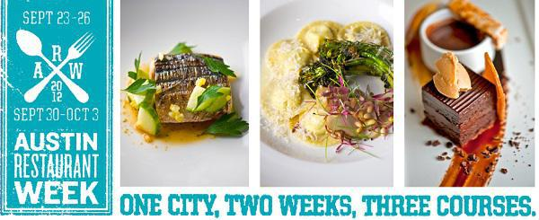 Austin Restaurant Week Fall 2012