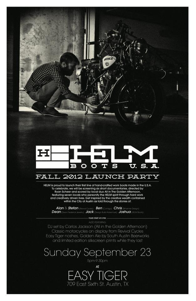 HELM Boots 2012 Launch Party