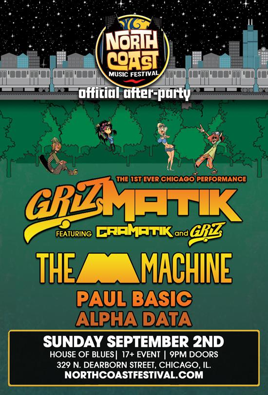 GRIZMATIK featuring Gramatik, Griz, The M Machine, Paul Basic, Alpha Data