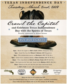 Shiner's Saloon presents Crawl the Capital
