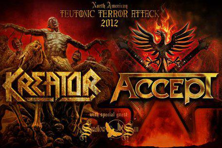 Kreator and Accept with Swallow The Sun