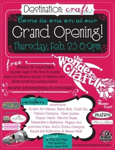 The WonderCraft Grand Opening - Come tie one on!