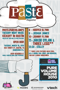 SXSW - Paste & Purevolume's Tuesday Night Music In Austin Kickoff (RSVP Required)