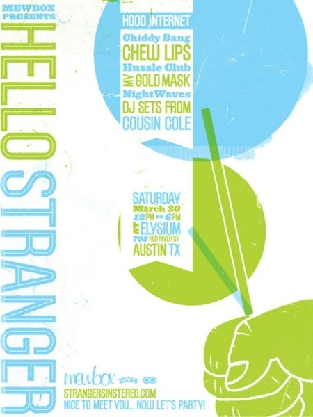 SXSW - Mewbox Presents: Hello Stranger - Official Strangers In Stereo Launch Party (Free)