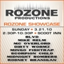 RSVPs CLOSED = Rozone presents: Mike Relm, BLVD, Mingo Fishtrap, Dirty Wormz, & MC Overlord