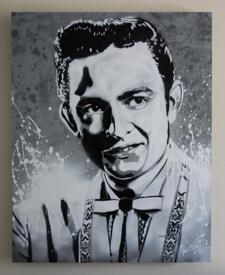 Repainting of Johnny Cash Mural