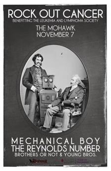 ROCK OUT CANCER w/ MECHANICAL BOY + THE REYNOLDS NUMBER + Brothers or Not + Young Bros.