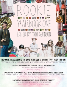 Rookie Yearbook One Reading and Signing with Tavi Gevinson