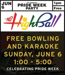 The Highball's Pride Party – 1pm, Free