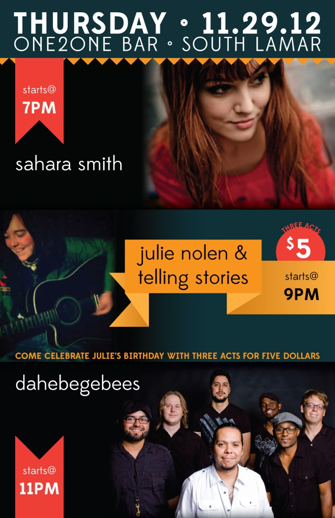 Sahara Smith, Julie Nolen's Birthday Show and Daheebeegeebees