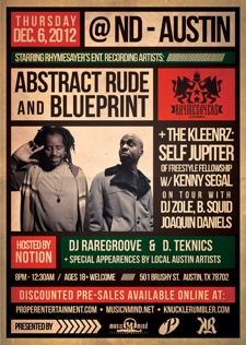 Abstract Rude &amp; Blueprint of Rhymesayer's Ent &amp; special guests