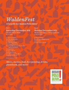 WALDENFEST*BENEFIT FOR AUSTIN PETS ALIVE*