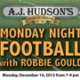 The Goulden Touch Presents:  Monday Night Football with Chicago Bear Robbie Gould!!!