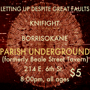 Letting Up Despite Great Faults, Knifight, Borrisokane w/ special holiday gift!