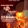  Flamenco Friday Happy Hour from 8-10: $150 Any Bottle Service, 1/2 Off Champagne and Wine, $3 Wells Until 10pm