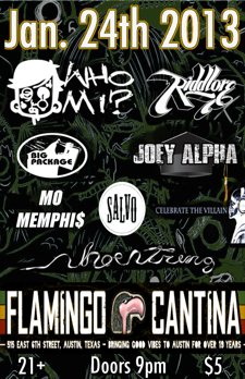 Hip Hop Show: Who Mi, Riddlore, Big Package, Joey Alpha, Mo Memphas, Salvo, Celebrate the Villain, Shoesting