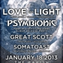  LOVE &amp; LIGHT, PSYMBIONIC (PostWaveFutureCore Album Release Party), GREAT SCOTT, SOMATOAST