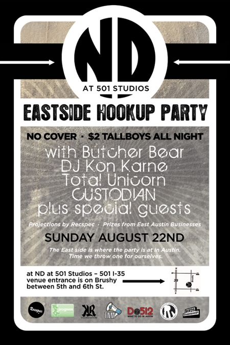 Eastside Hookup Party w/ Butcher Bear and DJ Kon Karne + Custodian + Total Unicorn!