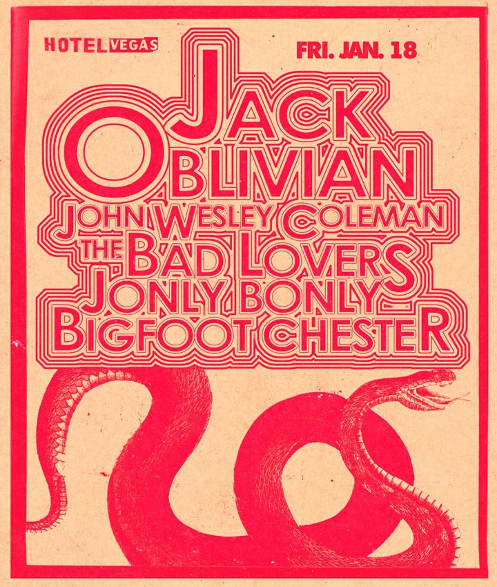 JACK OBLIVIAN &amp; THE TENNESSEE TEARJERKERS, John Wesley Coleman, Bad Lovers, Jonly Bonly, Big Foot Chester
