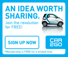 Get Free Amy's Ice Cream Just For Registering for car2go! Today Only!