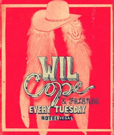  WIL COPE and ARCHIVE WAR every Tuesday in February at HOTEL VEGAS!!