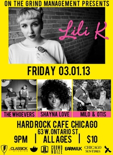 LILI K / MILO &amp; OTIS / THE WHOEVERS / SHAYNA LOVE