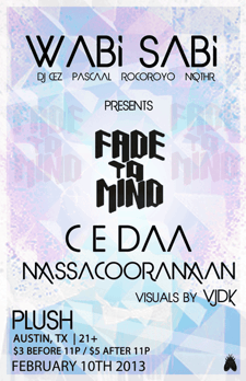 WABI SABI PRESENTS CEDAA & MASSACOORAMAAN (FADE TO MIND)