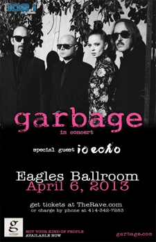 FM 102/1 presents GARBAGE, io echo