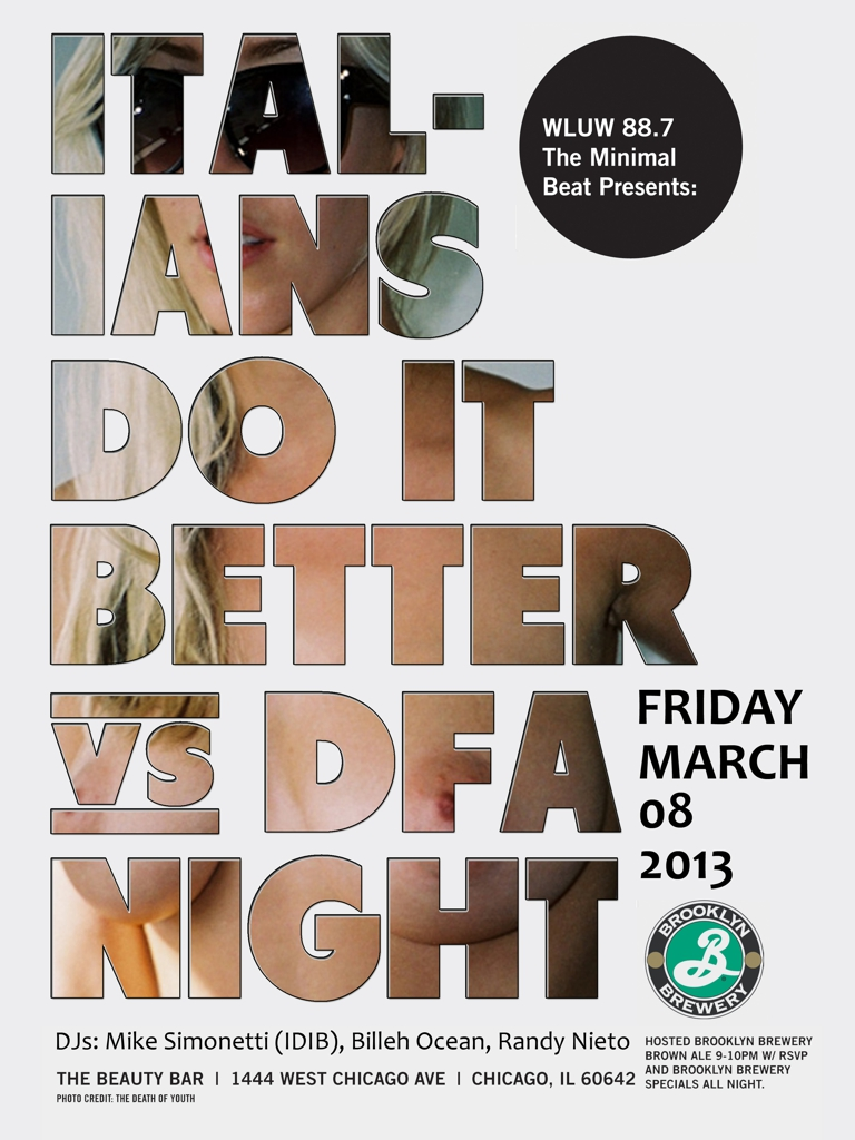 ITALIANS DO IT BETTER vs DFA w/ MIKE SIMONETTI - NO COVER [RSVP for Hosted Brooklyn Brown Bar]