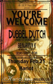 'You're Welcome', Dubbel Dutch, Benjamin K, Sebastian Concha
