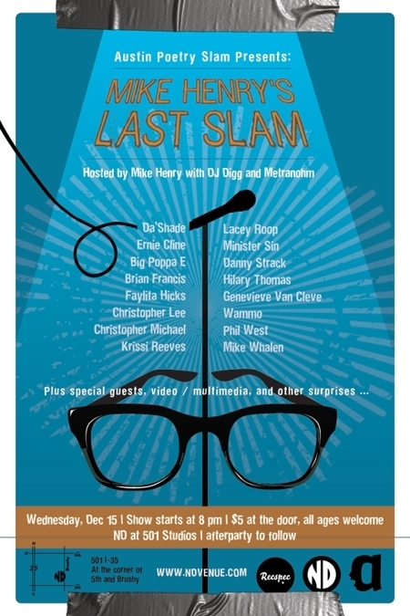 Austin Poetry Slam ~ Mike Henry's Last Slam!