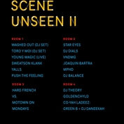RSVPS ARE NOW CLOSED Scene Unseen II