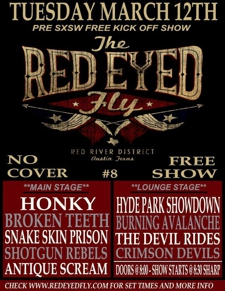 Red Eyed Fly's Unofficial Pre-SX Party ft. Snake Skin Prison, Shotgun Rebels &amp; More (Free w/ RSVP on Do512)