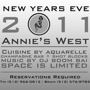 New Year's Eve at Annie's West