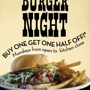 Burger Night: Buy One, Get One 1/2 off