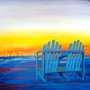 "Painting With a Twist - ""Beach Chairs at Sunset"""