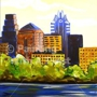 "Painting With a Twist, Painting With a Purpose - ""Austin Morning"""