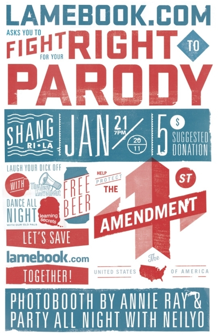 Lamebook.com Legal Fundraiser - Fight For Your Right to PARODY!
