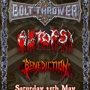 Return to Chaos 2013 Bolt Thrower, Autopsy, Benediction