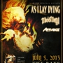  Disarm The Descent Tour KILLSWITCH ENGAGE, As I Lay Dying, Miss May I, Affiance