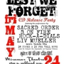 Lest We Forget CD Release Party, Sacred Order, 3onFire, Rock-a Dials, Liv Mueller