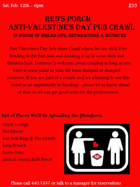 Poster: Anti-Valentine's Day Bar Crawl; Comments