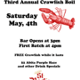 St Roch's Bar Third Annual FREE Crawfish Boil