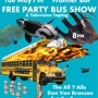 Free Party Bus Show & Television Taping