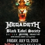  GIGANTOUR 2013, Megadeth, Black Label Society, Device, HELLYEAH, Newsted, plus special guest Death Division
