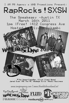 I AM PR Agency and WHB Promotions Present: RapRocks! SXSW (Free)