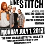 STRAIGHT LINE STITCH and more at the Dirty Dog Bar!