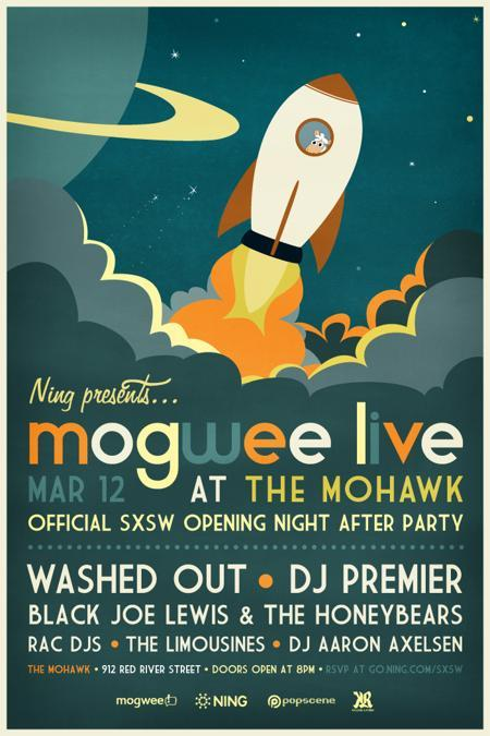 Ning presents: Mogwee Live (Free w/ RSVP) Featuring DJ Premier, Washed Out and more!
