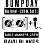 Bumpday feat. Bavu Blakes and KJ Hines w/ DJ Digg, DJ Charlie and DJ Jeska