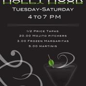 Enzo Happy Hour 4-7: 1/2 Price Tapas, $20 Mojito Pitchers $3 Margaritas $5 Martinis